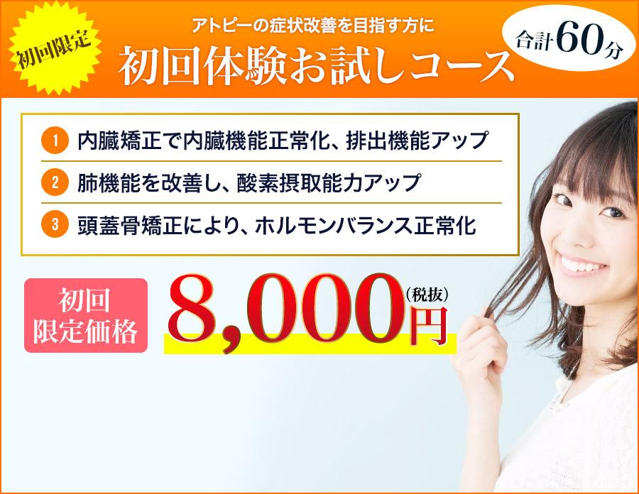 初回体験お試しコース8,000円